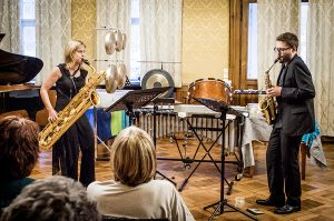 Foto: Kontrapunkte Speyer - Patrick Stadler und Daniela Wahler, Saxophon